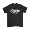 NFL – Bud Light Dilly Dilly A True Friend Of The Seattle Seahawks Nation NFL Football Shirt-T-shirt-Gildan Mens T-Shirt-Black-S-Itees Global