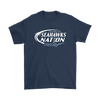 NFL – Bud Light Dilly Dilly A True Friend Of The Seattle Seahawks Nation NFL Football Shirt-T-shirt-Gildan Mens T-Shirt-Navy-S-Itees Global