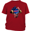 NFL - Buffalo Bills Independence Day Football Shirts-T-shirt-District Youth Shirt-Red-XS-PopsSpot