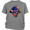 NFL - Buffalo Bills Independence Day Football Shirts-T-shirt-District Youth Shirt-Sport Grey-XS-PopsSpot