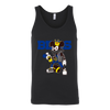 NFL - Buffalo Bills Mickey Mouse Is Wearing A Peace Necklace Disney NFL Football Shirt-T-shirt-Canvas Unisex Tank-Black-S-Itees Global