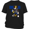 NFL - Buffalo Bills Mickey Mouse Is Wearing A Peace Necklace Disney NFL Football Shirt-T-shirt-District Youth Shirt-Black-XS-Itees Global
