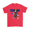 NFL - Buffalo Bills Mickey Mouse Is Wearing A Peace Necklace Disney NFL Football Shirt-T-shirt-Gildan Mens T-Shirt-Red-S-Itees Global