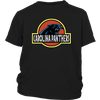 NFL - Carolina Panthers Jurassic World: Fallen Kingdom Football NFL Shirts-T-shirt-District Youth Shirt-Black-XS-PopsSpot