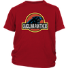 NFL - Carolina Panthers Jurassic World: Fallen Kingdom Football NFL Shirts-T-shirt-District Youth Shirt-Red-XS-PopsSpot