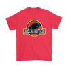 NFL - Carolina Panthers Jurassic World: Fallen Kingdom Football NFL Shirts-T-shirt-Gildan Mens T-Shirt-Red-S-PopsSpot