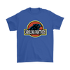 NFL - Carolina Panthers Jurassic World: Fallen Kingdom Football NFL Shirts-T-shirt-Gildan Mens T-Shirt-Royal Blue-S-PopsSpot