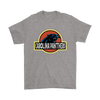 NFL - Carolina Panthers Jurassic World: Fallen Kingdom Football NFL Shirts-T-shirt-Gildan Mens T-Shirt-Sport Grey-S-PopsSpot