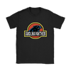 NFL - Carolina Panthers Jurassic World: Fallen Kingdom Football NFL Shirts-T-shirt-Gildan Womens T-Shirt-Black-S-PopsSpot