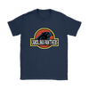 NFL - Carolina Panthers Jurassic World: Fallen Kingdom Football NFL Shirts-T-shirt-Gildan Womens T-Shirt-Navy-S-PopsSpot