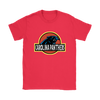 NFL - Carolina Panthers Jurassic World: Fallen Kingdom Football NFL Shirts-T-shirt-Gildan Womens T-Shirt-Red-S-PopsSpot
