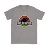NFL - Carolina Panthers Jurassic World: Fallen Kingdom Football NFL Shirts-T-shirt-Gildan Womens T-Shirt-Sport Grey-S-PopsSpot