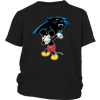 NFL - Carolina Panthers Mickey Mouse Dabbing NFL Football Shirts-T-shirt-District Youth Shirt-Black-XS-PopsSpot
