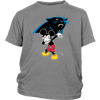 NFL - Carolina Panthers Mickey Mouse Dabbing NFL Football Shirts-T-shirt-District Youth Shirt-Sport Grey-XS-PopsSpot