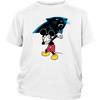 NFL - Carolina Panthers Mickey Mouse Dabbing NFL Football Shirts-T-shirt-District Youth Shirt-White-XS-PopsSpot