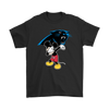 NFL - Carolina Panthers Mickey Mouse Dabbing NFL Football Shirts-T-shirt-Gildan Mens T-Shirt-Black-S-PopsSpot