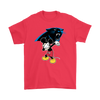 NFL - Carolina Panthers Mickey Mouse Dabbing NFL Football Shirts-T-shirt-Gildan Mens T-Shirt-Red-S-PopsSpot