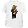 NFL - Chicago Bears Guardians Of The Galaxy Groot Football NFL Shirts-T-shirt-District Youth Shirt-White-XS-Itees Global