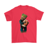 NFL - Chicago Bears Guardians Of The Galaxy Groot Football NFL Shirts-T-shirt-Gildan Mens T-Shirt-Red-S-Itees Global