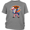 NFL - Chicago Bears Uncle Sam Dabbing Independence Day NFL Football Shirts-T-shirt-District Youth Shirt-Sport Grey-XS-PopsSpot