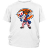 NFL - Chicago Bears Uncle Sam Dabbing Independence Day NFL Football Shirts-T-shirt-District Youth Shirt-White-XS-PopsSpot
