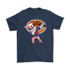 NFL - Chicago Bears Uncle Sam Dabbing Independence Day NFL Football Shirts-T-shirt-Gildan Mens T-Shirt-Navy-S-PopsSpot
