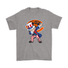 NFL - Chicago Bears Uncle Sam Dabbing Independence Day NFL Football Shirts-T-shirt-Gildan Mens T-Shirt-Sport Grey-S-PopsSpot