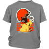 NFL – Cleveland Browns American Football Pikachu Shirts-T-shirt-District Youth Shirt-Sport Grey-XS-Itees Global