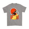 NFL – Cleveland Browns American Football Pikachu Shirts-T-shirt-Gildan Mens T-Shirt-Sport Grey-S-Itees Global