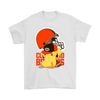 NFL – Cleveland Browns American Football Pikachu Shirts-T-shirt-Gildan Mens T-Shirt-White-S-Itees Global
