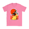 NFL – Cleveland Browns American Football Pikachu Shirts-T-shirt-Gildan Womens T-Shirt-Azalea-S-Itees Global