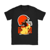 NFL – Cleveland Browns American Football Pikachu Shirts-T-shirt-Gildan Womens T-Shirt-Black-S-Itees Global