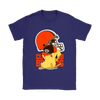 NFL – Cleveland Browns American Football Pikachu Shirts-T-shirt-Gildan Womens T-Shirt-Purple-S-Itees Global
