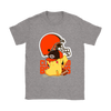 NFL – Cleveland Browns American Football Pikachu Shirts-T-shirt-Gildan Womens T-Shirt-Sport Grey-S-Itees Global