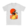 NFL – Cleveland Browns American Football Pikachu Shirts-T-shirt-Gildan Womens T-Shirt-White-S-Itees Global