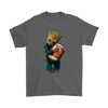 NFL - Cleveland Browns Guardians Of The Galaxy Groot Football NFL Shirts-T-shirt-Gildan Mens T-Shirt-Charcoal-S-Itees Global