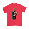 NFL - Cleveland Browns Guardians Of The Galaxy Groot Football NFL Shirts-T-shirt-Gildan Mens T-Shirt-Red-S-Itees Global