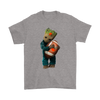 NFL - Cleveland Browns Guardians Of The Galaxy Groot Football NFL Shirts-T-shirt-Gildan Mens T-Shirt-Sport Grey-S-Itees Global
