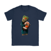 NFL - Cleveland Browns Guardians Of The Galaxy Groot Football NFL Shirts-T-shirt-Gildan Womens T-Shirt-Navy-S-Itees Global