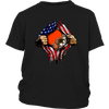NFL - Cleveland Browns Independence Day Football Shirts-T-shirt-District Youth Shirt-Black-XS-Itees Global