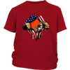 NFL - Cleveland Browns Independence Day Football Shirts-T-shirt-District Youth Shirt-Red-XS-Itees Global