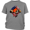 NFL - Cleveland Browns Independence Day Football Shirts-T-shirt-District Youth Shirt-Sport Grey-XS-Itees Global