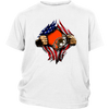NFL - Cleveland Browns Independence Day Football Shirts-T-shirt-District Youth Shirt-White-XS-Itees Global