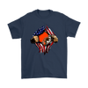 NFL - Cleveland Browns Independence Day Football Shirts-T-shirt-Gildan Mens T-Shirt-Navy-S-Itees Global