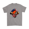 NFL - Cleveland Browns Independence Day Football Shirts-T-shirt-Gildan Mens T-Shirt-Sport Grey-S-Itees Global