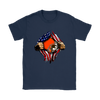 NFL - Cleveland Browns Independence Day Football Shirts-T-shirt-Gildan Womens T-Shirt-Navy-S-Itees Global
