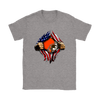 NFL - Cleveland Browns Independence Day Football Shirts-T-shirt-Gildan Womens T-Shirt-Sport Grey-S-Itees Global