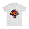 NFL - Cleveland Browns Independence Day Football Shirts-T-shirt-Gildan Womens T-Shirt-White-S-Itees Global