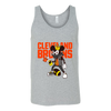 NFL - Cleveland Browns Mickey Mouse Is Wearing A Peace Necklace Disney NFL Football Shirt-T-shirt-Canvas Unisex Tank-Athletic Grey-S-PopsSpot