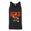 NFL - Cleveland Browns Mickey Mouse Is Wearing A Peace Necklace Disney NFL Football Shirt-T-shirt-Canvas Unisex Tank-Black-S-PopsSpot